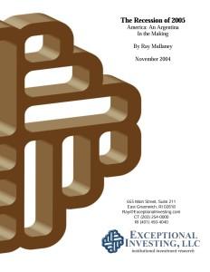 Recession 2005 cover